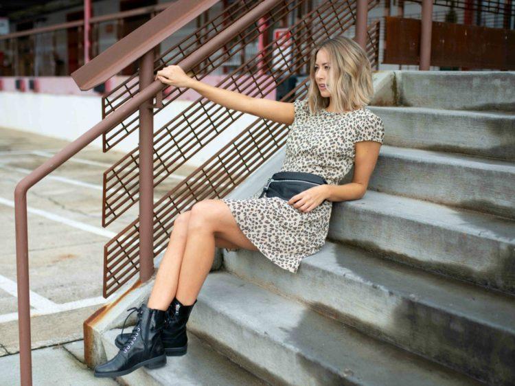 abercrombie leopard mini dress